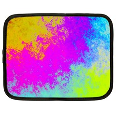 Grunge Radial Gradients Red Yellow Pink Cyan Green Netbook Case (xxl)  by EDDArt