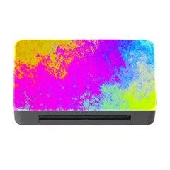 Grunge Radial Gradients Red Yellow Pink Cyan Green Memory Card Reader With Cf by EDDArt