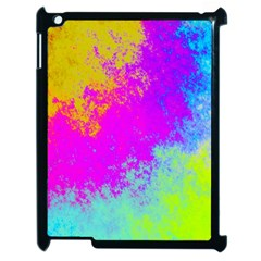 Grunge Radial Gradients Red Yellow Pink Cyan Green Apple Ipad 2 Case (black) by EDDArt