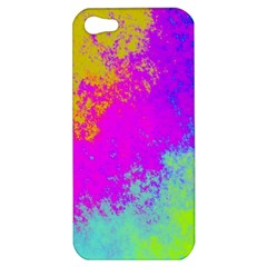 Grunge Radial Gradients Red Yellow Pink Cyan Green Apple Iphone 5 Hardshell Case by EDDArt