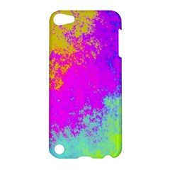 Grunge Radial Gradients Red Yellow Pink Cyan Green Apple Ipod Touch 5 Hardshell Case by EDDArt