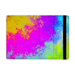 Grunge Radial Gradients Red Yellow Pink Cyan Green Apple Ipad Mini Flip Case by EDDArt