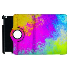 Grunge Radial Gradients Red Yellow Pink Cyan Green Apple Ipad 3/4 Flip 360 Case by EDDArt