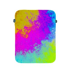 Grunge Radial Gradients Red Yellow Pink Cyan Green Apple Ipad 2/3/4 Protective Soft Cases by EDDArt