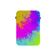 Grunge Radial Gradients Red Yellow Pink Cyan Green Apple Ipad Mini Protective Soft Cases by EDDArt