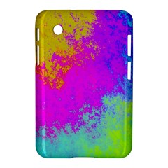 Grunge Radial Gradients Red Yellow Pink Cyan Green Samsung Galaxy Tab 2 (7 ) P3100 Hardshell Case  by EDDArt
