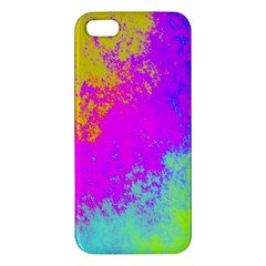 Grunge Radial Gradients Red Yellow Pink Cyan Green Iphone 5s/ Se Premium Hardshell Case by EDDArt