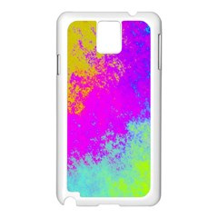 Grunge Radial Gradients Red Yellow Pink Cyan Green Samsung Galaxy Note 3 N9005 Case (white) by EDDArt