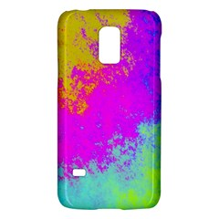 Grunge Radial Gradients Red Yellow Pink Cyan Green Galaxy S5 Mini by EDDArt