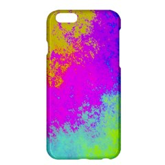 Grunge Radial Gradients Red Yellow Pink Cyan Green Apple Iphone 6 Plus/6s Plus Hardshell Case by EDDArt