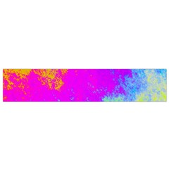 Grunge Radial Gradients Red Yellow Pink Cyan Green Flano Scarf (small) by EDDArt