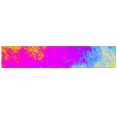 Grunge Radial Gradients Red Yellow Pink Cyan Green Flano Scarf (large) by EDDArt