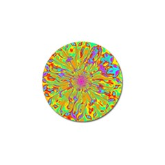 Magic Ripples Flower Power Mandala Neon Colored Golf Ball Marker (10 Pack) by EDDArt