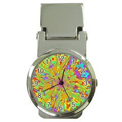 Magic Ripples Flower Power Mandala Neon Colored Money Clip Watches by EDDArt