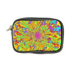 Magic Ripples Flower Power Mandala Neon Colored Coin Purse by EDDArt