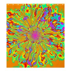 Magic Ripples Flower Power Mandala Neon Colored Shower Curtain 66  X 72  (large)