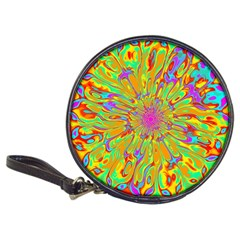 Magic Ripples Flower Power Mandala Neon Colored Classic 20 Cd Wallets