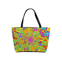 Magic Ripples Flower Power Mandala Neon Colored Shoulder Handbags