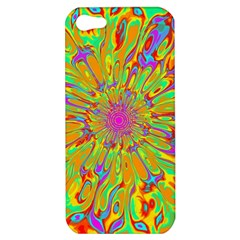 Magic Ripples Flower Power Mandala Neon Colored Apple Iphone 5 Hardshell Case by EDDArt