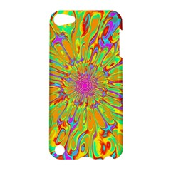 Magic Ripples Flower Power Mandala Neon Colored Apple Ipod Touch 5 Hardshell Case by EDDArt