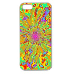 Magic Ripples Flower Power Mandala Neon Colored Apple Seamless Iphone 5 Case (clear) by EDDArt
