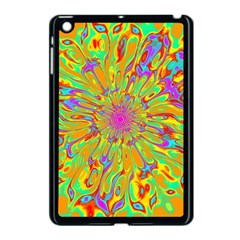 Magic Ripples Flower Power Mandala Neon Colored Apple Ipad Mini Case (black) by EDDArt