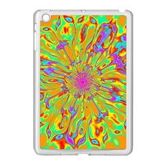 Magic Ripples Flower Power Mandala Neon Colored Apple Ipad Mini Case (white) by EDDArt