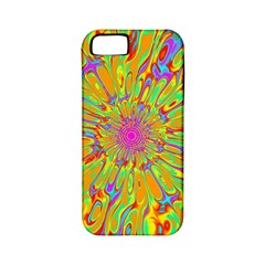 Magic Ripples Flower Power Mandala Neon Colored Apple Iphone 5 Classic Hardshell Case (pc+silicone) by EDDArt