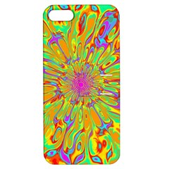 Magic Ripples Flower Power Mandala Neon Colored Apple Iphone 5 Hardshell Case With Stand by EDDArt