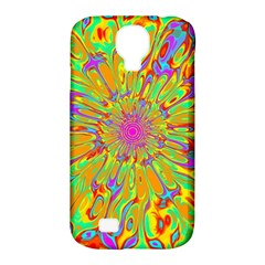 Magic Ripples Flower Power Mandala Neon Colored Samsung Galaxy S4 Classic Hardshell Case (pc+silicone) by EDDArt