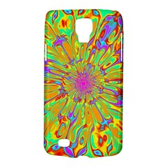 Magic Ripples Flower Power Mandala Neon Colored Galaxy S4 Active by EDDArt