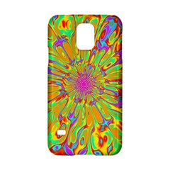 Magic Ripples Flower Power Mandala Neon Colored Samsung Galaxy S5 Hardshell Case  by EDDArt