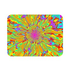 Magic Ripples Flower Power Mandala Neon Colored Double Sided Flano Blanket (mini)  by EDDArt