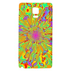 Magic Ripples Flower Power Mandala Neon Colored Galaxy Note 4 Back Case