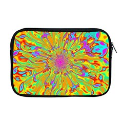 Magic Ripples Flower Power Mandala Neon Colored Apple Macbook Pro 17  Zipper Case by EDDArt
