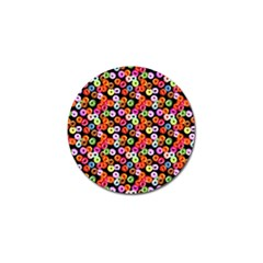 Colorful Yummy Donuts Pattern Golf Ball Marker by EDDArt