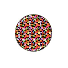 Colorful Yummy Donuts Pattern Hat Clip Ball Marker by EDDArt