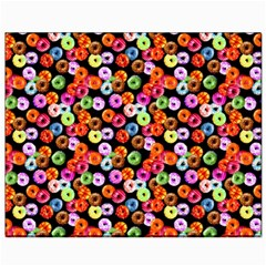 Colorful Yummy Donuts Pattern Canvas 8  X 10  by EDDArt