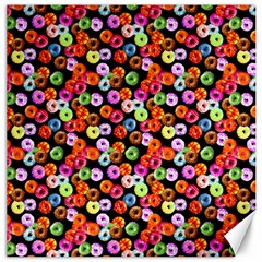 Colorful Yummy Donuts Pattern Canvas 20  X 20