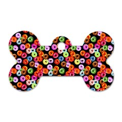 Colorful Yummy Donuts Pattern Dog Tag Bone (two Sides)