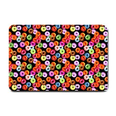 Colorful Yummy Donuts Pattern Small Doormat
