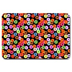 Colorful Yummy Donuts Pattern Large Doormat