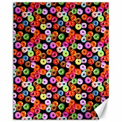 Colorful Yummy Donuts Pattern Canvas 11  X 14