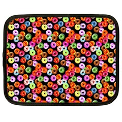 Colorful Yummy Donuts Pattern Netbook Case (large)