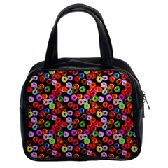 Colorful Yummy Donuts Pattern Classic Handbags (2 Sides)