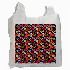 Colorful Yummy Donuts Pattern Recycle Bag (one Side) by EDDArt