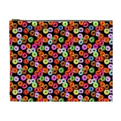 Colorful Yummy Donuts Pattern Cosmetic Bag (xl)