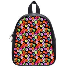 Colorful Yummy Donuts Pattern School Bags (small)  by EDDArt