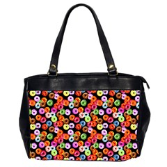 Colorful Yummy Donuts Pattern Office Handbags (2 Sides)