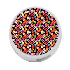 Colorful Yummy Donuts Pattern 4 Port Usb Hub (two Sides)